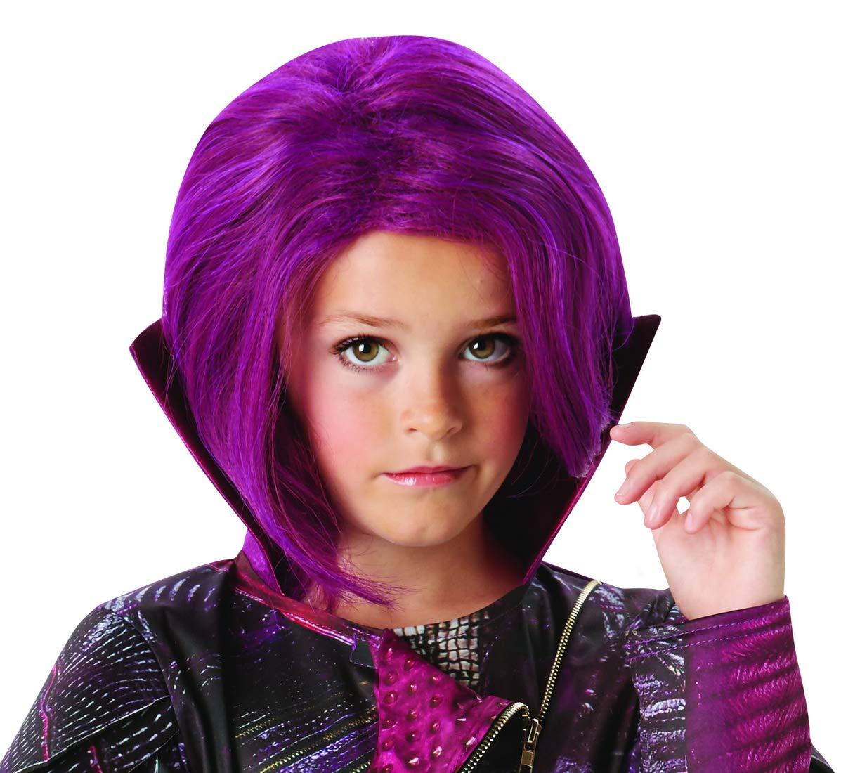 Peluca para Disfraz de Halloween para niños, Carnaval, Carnaval y Noche de Carnaval, Color Lila: Amazon.es: Juguetes y juegos