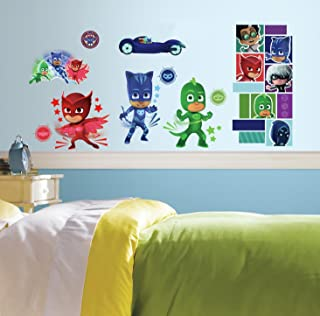 RoomMates PJ Masks Peel And Stick Wall Decals,9 inches X 17.375 inches - RMK3586SCS