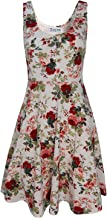 TAM WARE Women's Casual Fit and Flare Floral Sleeveless Dress by Tom's Ware