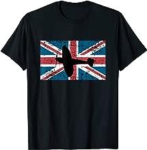 Patriotic RAF Supermarine Spitfire British flag t-shirt