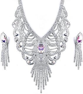 Set di gioielli per le donne, Set di orecchini con pendente a forma di Y o V per collana, Gioielli per feste di matrimonio...