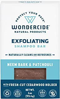 Wondercide Natural Exfoliating Pet Shampoo Bar for Dogs & Cats - Neem Oil - 4oz Bar