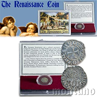 THE RENAISSANCE COIN - Medieval European Coin in Clear Display Box with Story Card & Certificate of Authenticity - Venice Italy Italian Antique Coin