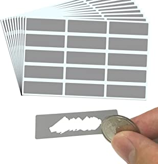 """150 Pack, Rectangle Scratch Off Labels Stickers, Gray - 1.9 x 0.6"""""""