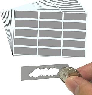 DIY Cartes à gratter (Scratch Card) Autocollant - Rectangle, 4,8 x 1,5 cm, Paquet de 150