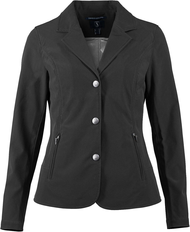 Cheap mail order sales Horze Women's Ladies Adele Black Ranking TOP16 Button En Lightweight Softshell
