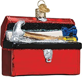 Old World Christmas Glass Blown Ornament Toolbox (32301)