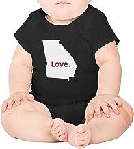 Artisfive Georgia State map Love Unisex Baby Onesies Infant Bodysuit
