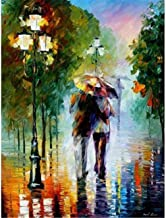 Painting by Numbers Adult Garden Couple Oil Painting Pre-Printed Canvas Children Kits Home House Decor-40 * 50cm (Frameless)