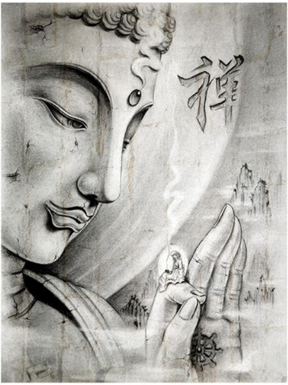Wall In stock Art Max 68% OFF Modular Picture Canvas Moder statue Poster buddha Print