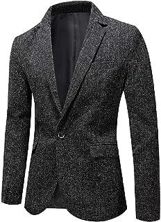 FSSE Men Business One Button Casual Slim Fit Dress Blazer Jacket Suit Coat