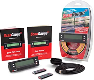 ScanGaugeII sgii Advanced Ultra-Compact Vehicle Monitor, Black