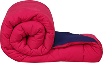Clasiko Double Bed Reversible Ac Comforters, Fabric - Micro Cotton, 300 GSM, Color - Pink and Blue, Size - 90 x 100 Inches