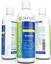 Puriya Sulfate Free Tea Tree Oil Shampoo for Flaky Dry Scalp 16 oz-Award Winning-Moisturizing, Hydrating, Color Treatment Safe Shampoo for Men, Women. Paraben, Cruelty Free with Rosemary, Arnica, Sage