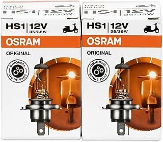 2x Osram Halogen Lampen 64185HS112V 35/35W PX43T High Tech, Longlife, für Motorrad, Fahrrad, UV Filter, serienmäßig, versiegelt