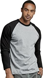 black and gray raglan shirt