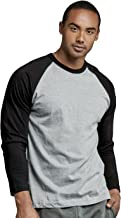 TOP PRO Men's Full Sleeve Casual Raglan Jersey Baseball Tee Shirt