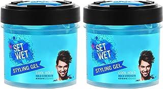 Set Wet Hair Gel For Men, Cool Hold, Medium Hold, Jar, 250 ml (Pack of 2)