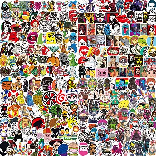400 PCS Sticker Pack, Vinyl Kawaii Sticker Aufkleber für Laptop,Wasserflaschen,Gepäck,Skateboard,PS4,Xbox One,Phone,Car Erwachsene,Teenager,Jungen und Mädchen-wasserdicht