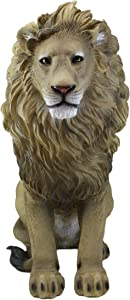 """Ebros Large King of The Savannah African Pride Lion Statue 20"""" Tall The Majestic Aslan Lion Sculpture"""
