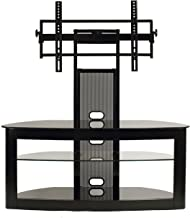 TransDeco LCD Universal Mount TV stand for 35 to 80 Inch Flat Panel Television, Black