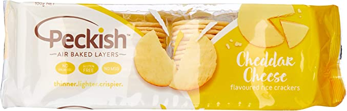 Peckish Thins Cheddar Cheese Flavoured Rice Crackers 100 g, 100 g