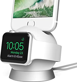 iOttie OmniBolt Apple Watch Stand, iPhone Docking Station for Apple Watch Series 2,1, iPhone 7s Plus, 7s, 6s, SE, 6 - Silver