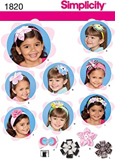 Simplicity Pattern 1820 Girls Hair Accessories from Precious Patterns