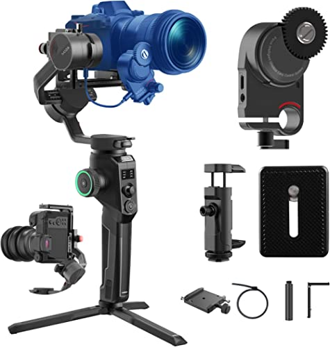 MOZA AirCross 2 Professional Kit Handheld Stabilizer with iFocusM Motor Lightweight Gimbal Up To 7Lb Auto-Tuning Intu...