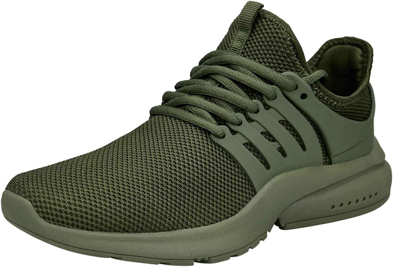 ZOCAVIA Womens Green Ultra Lightweight Knit Fashion Sport Sneakers - Size 8.5 M US