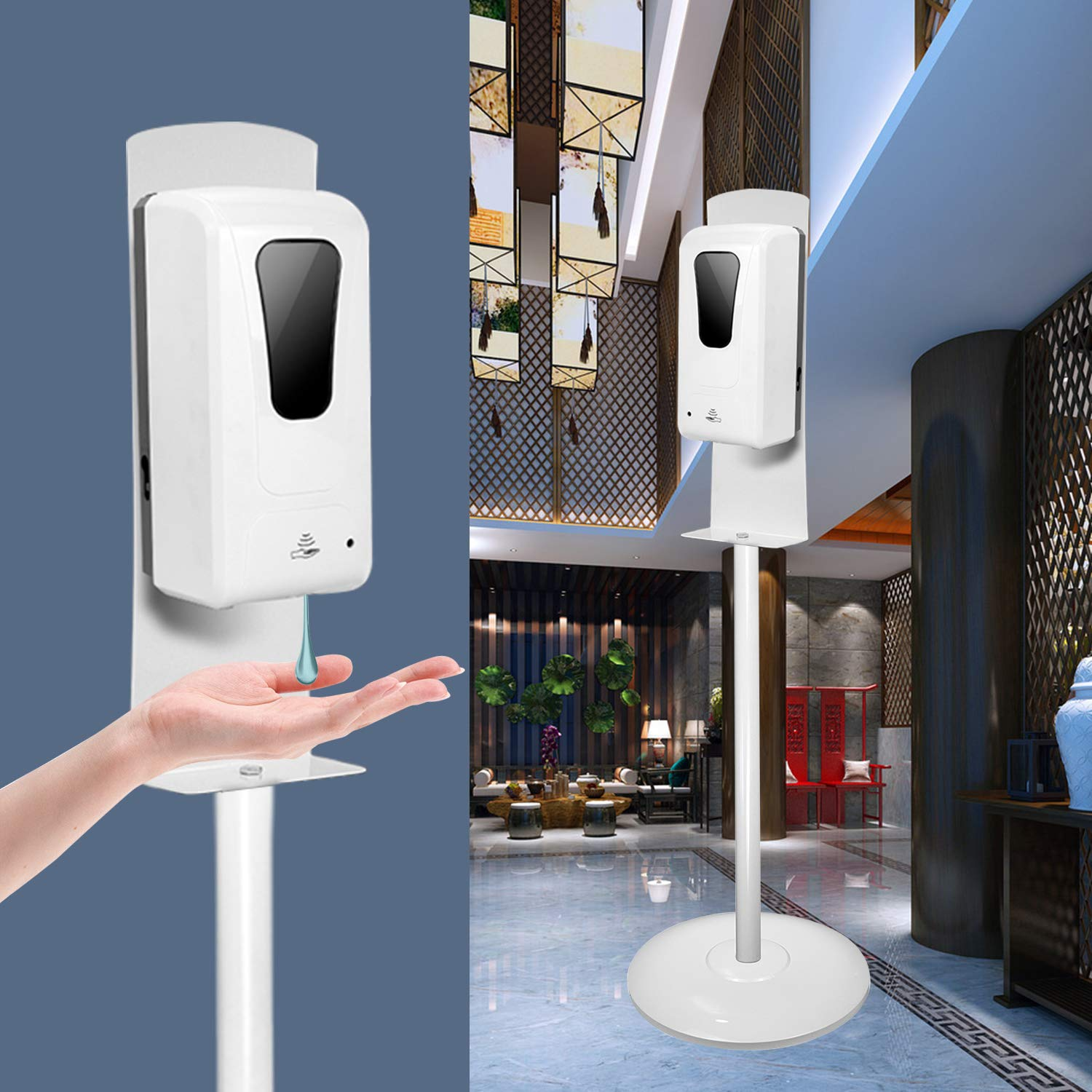 Hand Sanitizer Stand Dispenser Floor and Indefinitely San Francisco Mall S