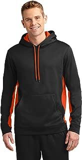 Sport-Tek Men's Sport Wick Fleece Colorblock Hooded