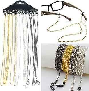 Erwachsene Tinksky Brillenkette aus Edelstahl Umh/ängeband f/ür Kinder 78,7 cm Brillenhalter f/ür Sonnenbrillen Schwarz