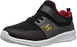 DC Boys' Heathrow Prestige EV Skate Shoe, Black/Grey/RED, 11.5 M US Little Kid