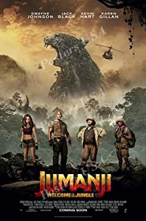Jumanji Welcome to the Jungle Movie Art Canvas Poster 8x12 24x36 inch