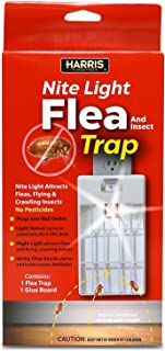Harris Plug-in Flea and Insect Trap with Night Light Attractant - Refillable and Pesticide Free