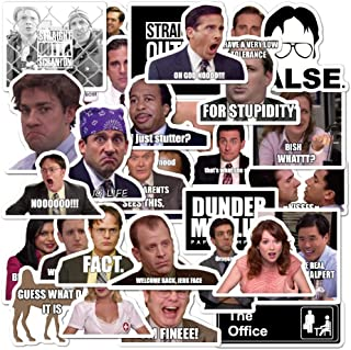 The Office Sticker 30pcs Pack - The Office Stickers for Laptops, Dunder Mifflin Stickers, The Office Laptop Stickers, Funny Stickers for Laptops, Computers,Waterproof Vinyl Water Bottle MacBook