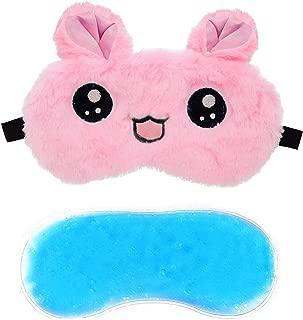 Jenna™ Cute Gel Fur Sleeping Eye Shade Mask Cover for Insomnia, Meditation, Puffy Eyes and Dark Circles Kitty Pink
