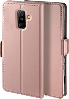 Libra_J Case for Samsung Galaxy A6 Plus 2018 case, [Stand Function] [Card Slot] [Magnet] [Anti-Slip] Premium Leather Flip ...