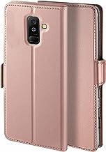 جراب Libra_J لهاتف Samsung Galaxy A6 Plus 2018، [وظيفة الوقوف] [فتحة للبطاقات] [مغناطيس] [مضاد للانزلاق] جراب قلاب جلدي فاخر لهاتف Samsung Galaxy A6 Plus 2018 روز جولد