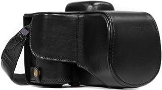 MegaGear Estuche Ever Ready Funda de Cuero de Pronto Uso con Correa Compatible con Nikon D3400