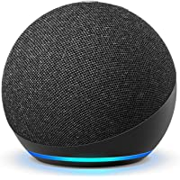 Amazon All-new (4th Gen) Smart Speaker With Alexa (Charcoal) + Amazon Smart Plug