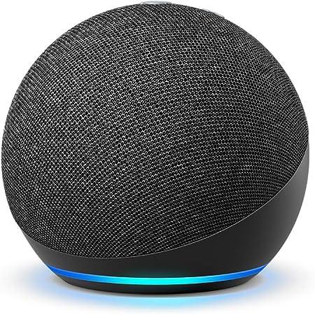 Echo Dot (4th Gen, 2020 release)   Smart speaker with Alexa   Charcoal