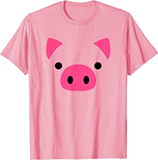 Pig Face Halloween Costume Funny Chinese Year 2019 T-Shirt