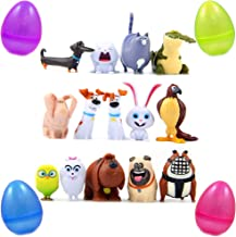 Toy Playset of 14 Pets The Secret Life of Pets Collectible Mini Toy Figures Also As Model to Decorate Car Cake House or Desk