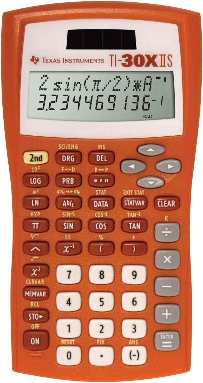 Texas Instruments Sale price TI-30X IIS Calculator Scientific 2-Line Orang New product!!