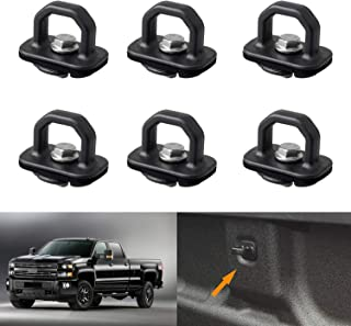 omotor Chevy Anchor Truck Bed 6Pcs Set Tie Downs Anchor Fits 07-18 GMC Sierra Cargo, 15-18 Chevy Colorado and GMC Canyon Model Truck Bed Side Wall Anchors