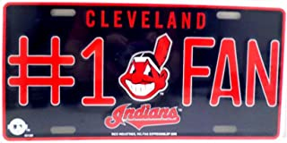 Cleveland Indians Black Premium Laser Cut Tag Acrylic Inlaid License Plate Baseball Inc Rico Industries