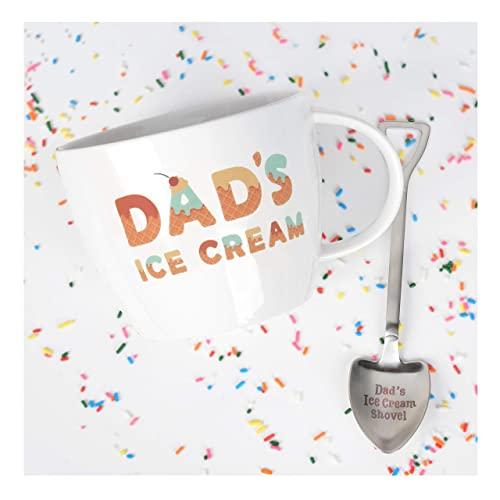 Josephine On Caffeine Gifts For Dad Dads Ice Cream Bowl And Engraved Spoon
