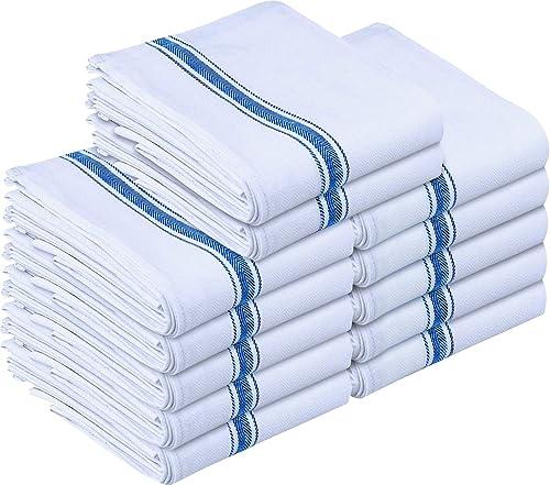 Utopia Towels Kitchen Towels (12 Pack) - Dish Towels, Machine Washable Cotton White Kitchen Dishcloths, Bar Towels & ...